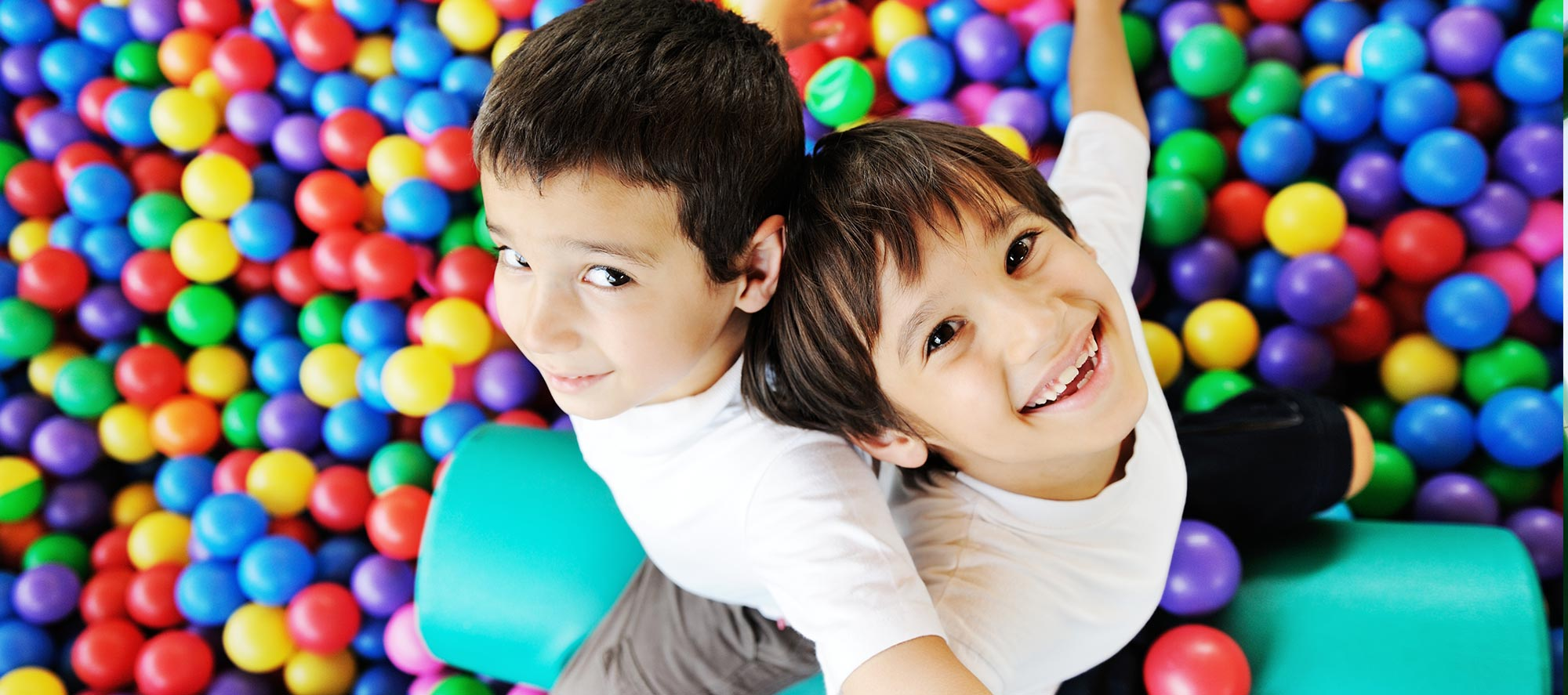 Boys in ballpit - Pediatric Dentist in Madison, MS